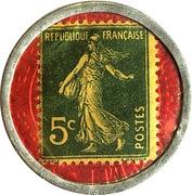 5 centimes - Crédit lyonnais – revers