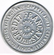 25 centimes - Crédit Français – avers