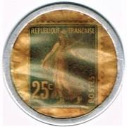 25 centimes - Crédit Français – revers