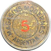 5 centimes - magasins Moderne - Argentan – avers