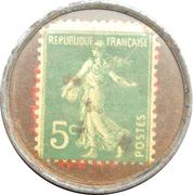 5 centimes - CAFÉS CAMPINAS - Bordeaux – revers