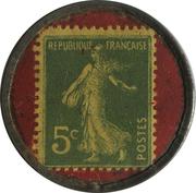 5 centimes - CHAUSSURES ANDRÉ - Bordeaux – revers