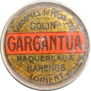 5 centimes - Conserves GARGANTUA - Lorient – avers