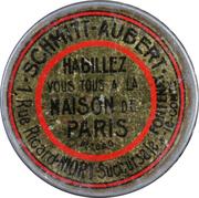 5  centimes - Schmitt Aubert - Maison de Paris – avers