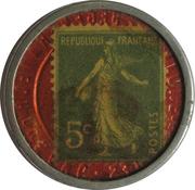 5 centimes - PILULES PINK - Paris – revers