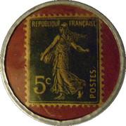 5 centimes - savon dentifrice de Botot - Levallois-Perret – revers