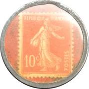 10 centimes - Chocolat François - Talence & Bordeaux – revers