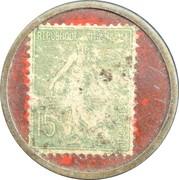 15 centimes - A la dame blanche - Bordeaux – revers