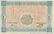 1 franc - Ville de Mulhouse [68] – revers