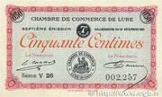 50 centimes - Chambre de Commerce de Lure [70] – avers