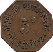 5 Centimes - Dépôt de prisonniers de Sédières [19] – avers