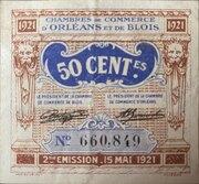 50 centimes - Chambres de Commerce d'Orléans  [45] et de Blois [41] – avers