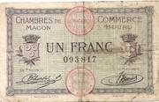 1 franc - Chambres de Commerce de Mâcon [71] et de Bourg [01] – avers