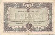 1 franc - Chambres de Commerce de Mâcon [71] et de Bourg [01] – revers