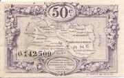 50 centimes - Chambre de Commerce de la  Marne [51] – revers