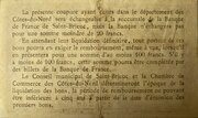 50 centimes - Chambre de Commerce des Côtes du Nord [22] – revers