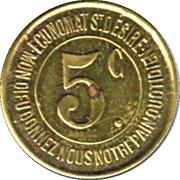 5 Centimes Caisse de Famille - Lons-le-Saulnier [39] – revers