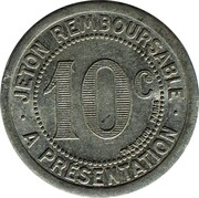 10 centimes - Mercerie Lyonnaise - Montpellier [34] – revers