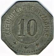 10 pfennig - Festungs-Feuerwehr - Thionville (57) – revers