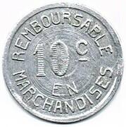 10 centimes - J.Paillous - Pau (64) – revers