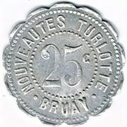 25 centimes Nouveautés Turlotte - Bruay-en-Artois (62) – avers