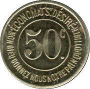 50 Centimes - Caisse de Famille - Lons-le-Saulnier [39] – revers