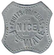 6 Francs François Viale Nice [06] – avers