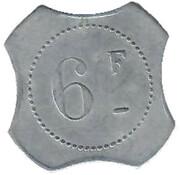 6 Francs François Viale Nice [06] – revers