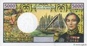 5000 francs CFP (Bougainville) – revers