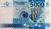 5,000 Francs CFP – avers