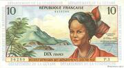 10 francs Antilles Françaises – avers