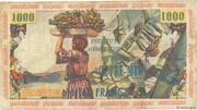 10 nouveaux francs sur 1000 Francs – revers