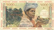 50 nouveaux francs sur 5000 Francs Antillaise – avers