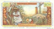 10 nouveaux francs Antilles Françaises – revers