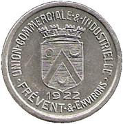 5 Centimes - Union Commerciale et industrielle - Frevent et Environs [62] – avers