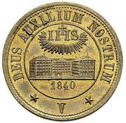 5 Batzen (Fribourg Jesuit School) – avers