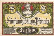 25 Pfennig (Friesack) – avers