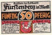 50 Pfennig (Fürstenberg in Mecklenburg) – avers