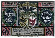 20 Pfennig (Fürstenwalde an der Spree) – avers