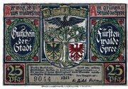 25 Pfennig (Fürstenwalde an der Spree) – avers