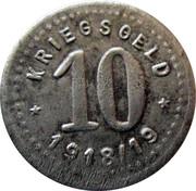 10 pfennig - Fürstenwalde an der Spree – revers