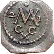 1 pfennig Maximilian II – revers
