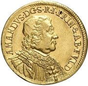 1 Ducat - Amandus von Buseck (Millenial of the abbey) – avers