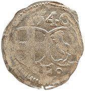 1 heller Johann III de Henneberg – avers