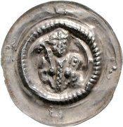 1 Brakteat - Heinrich V. – avers