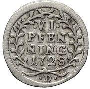 6 Pfennig - Adolf von Dalberg – revers