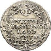 1 kopfstück Adolph of Dalberg – revers