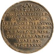 1 ducat Heinrich VIII of Bibra (Frappe essai en argent) – revers