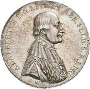 1 Thaler - Adalbert von Harstall (Kontributionstaler) – avers