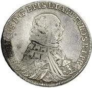 ½ Thaler - Heinrich VIII. von Bibra (Konventionshalbtaler) – avers